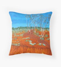 PLEIN AIR, RED GULLY Throw Pillow