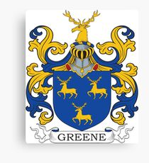 Green Coat of Arms Canvas Print