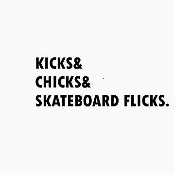 kicks chicks skateboard flicks by kawsss