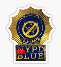 NYPD BIG BLUE small Sticker