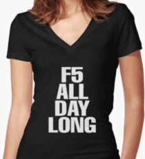 F5 Women's Fitted V-Neck T-Shirt