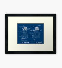 Exterminate Schematic Framed Print