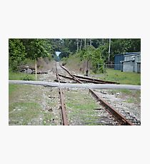 Desolate Rails Photographic Print