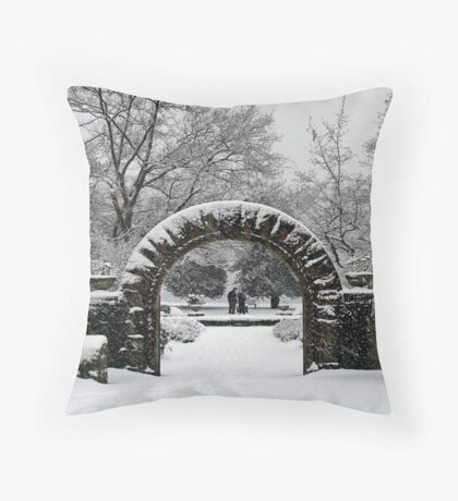 Gate to Winterland Throw Pillow