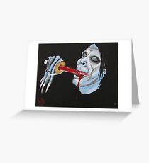 Radu Likes the Blood - SUBSPECIES VAMPIRE Greeting Card