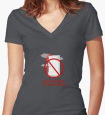 Fire Danger Women's Fitted V-Neck T-Shirt