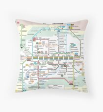 München Tramway Throw Pillow