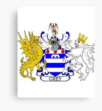 Grey Coat of Arms Canvas Print