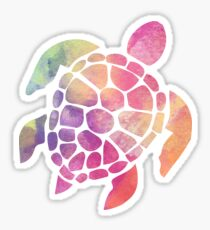 Watercolor Sea Turtle Sticker