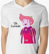 Oh Gumballs Prince Gumball Adventure Time Mens V-Neck T-Shirt