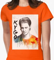 Colorful fanmade portrait of Kygo Womens Fitted T-Shirt