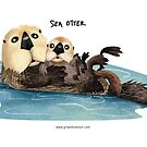Sea Otter with pup by rohanchak