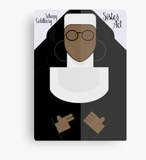 Sister Act, Whoopy Goldberg, movie poster, illustration, fine art print Canvas Print