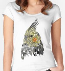 Textured Cockatiel  Women's Fitted Scoop T-Shirt