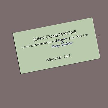 John Constantine's Business Card by sionyboy82