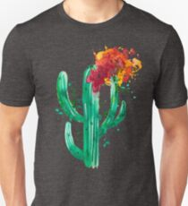Cactus fleuri - CesPtitsPigments Unisex T-Shirt