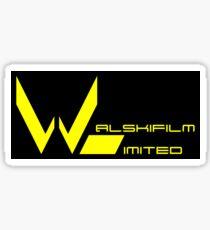 Yellow Walskifilm Logo on Black Sticker