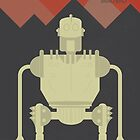The Iron Giant, animated movie poster, directed by Brad Bird cartoon, illustration by Spallutos