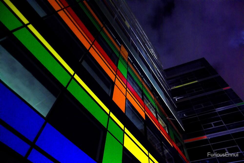 Neon Building by FuriousEnnui