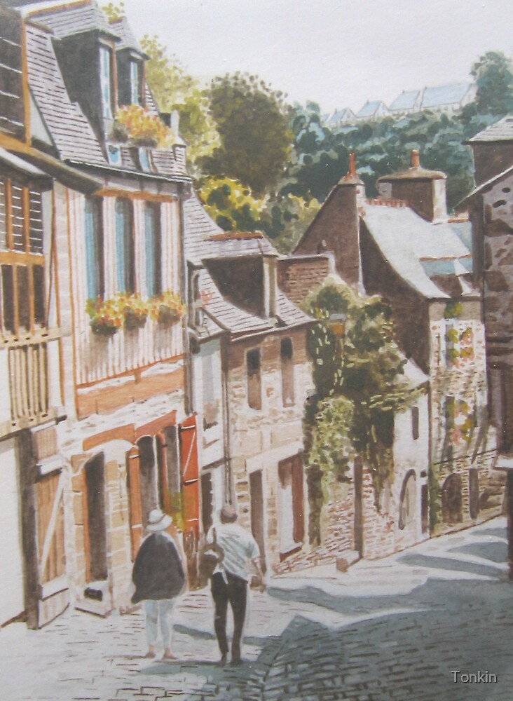 Dinan 2, Brittany by Tonkin