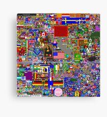 Reddit Place /r/ Place 48 Hours Canvas Print
