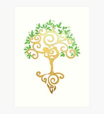 Yoga Tree Art Print