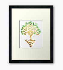 Yoga Tree Framed Print