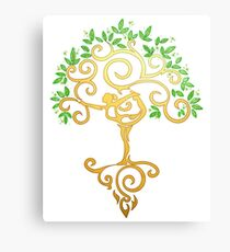 Yoga Tree Canvas Print