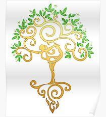 Yoga Tree Poster