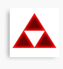 Red Triforce Canvas Print