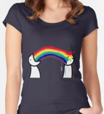 asdf movie rainbow Items! Women's Fitted Scoop T-Shirt