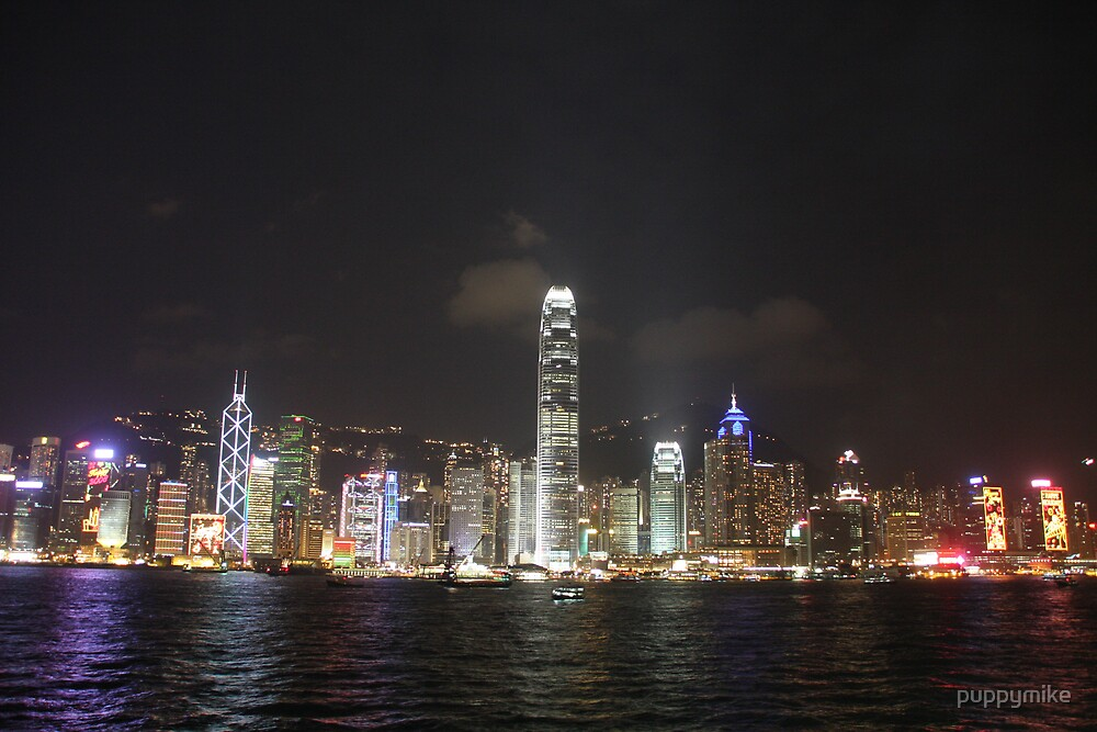 Hong Kong Night Skyline by puppymike