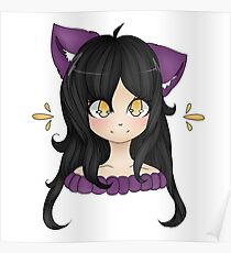 New Youtuber Aphmau Cute Fanart Drawing Poster