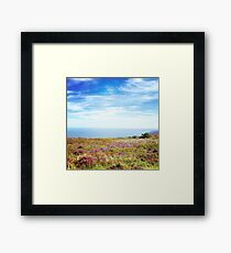 Exmoor Heather Framed Print