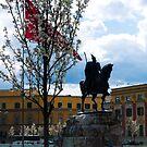 Spring on the Skanderbeg Monument by Rae Tucker