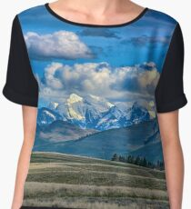 Springtime in the Rockies Chiffon Top