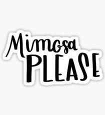 DEF Atelier - Hand Lettering - Mimosa Please - Bachelorette Sticker