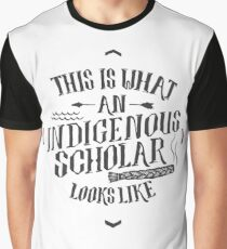 Indigenous Scholar (Gray) Graphic T-Shirt