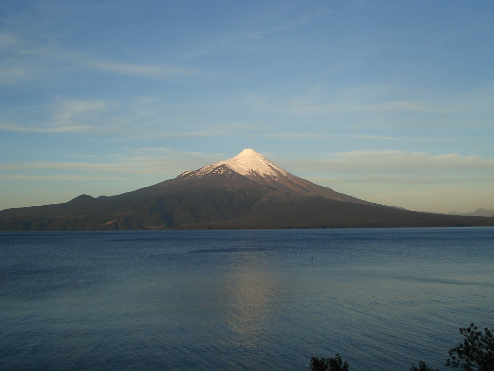 Volcano close to Puerto Varas, Chile by Zac Gillett