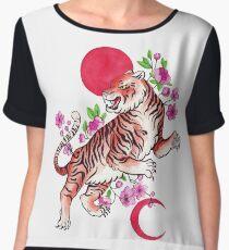 Japanese Tiger Women's Chiffon Top