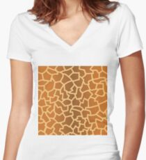 animal skin texture Women's Fitted V-Neck T-Shirt