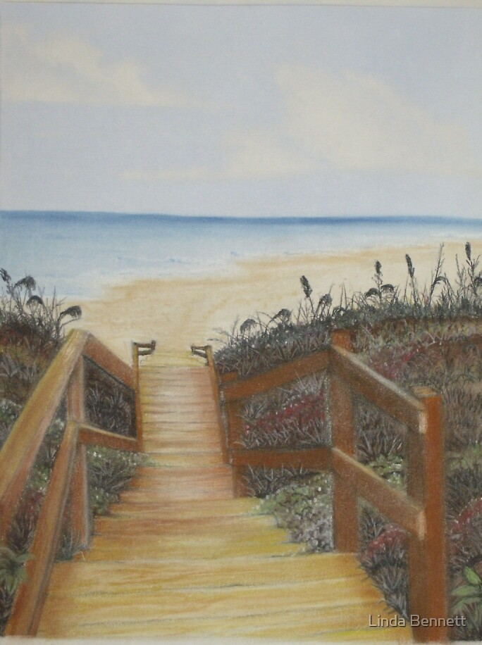 Beach Walkway 3 by Linda Bennett