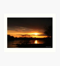 SUNSET ON THE PRAIRIE Art Print