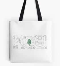 Infographic beer Tote Bag