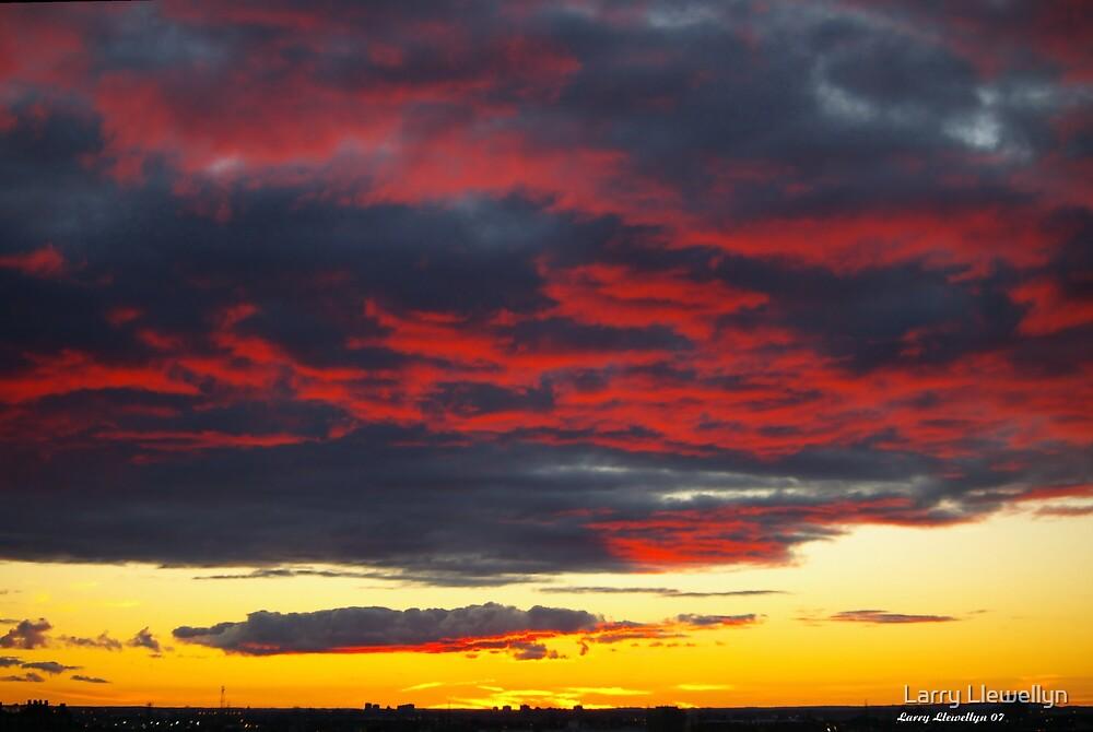 Fire in the Night Sky by Larry Llewellyn