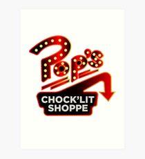 Riverdale Pops Chocklit Shoppe Art Print