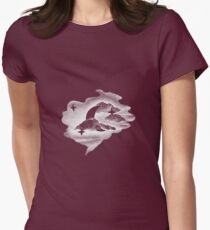 To The Moon and Back - White Womens Fitted T-Shirt