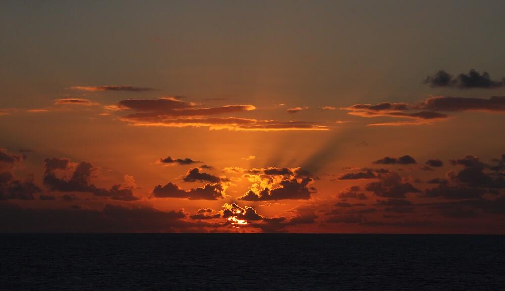 Caribean Sunset by Ian Johnston