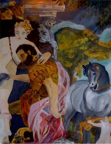 Venus And Mars United By Love by Eddie  Wood