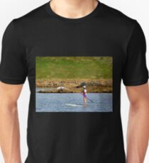 Paddleboarding on Chris Greene Lake   ^ Unisex T-Shirt